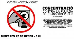 contra la puja del transport publica