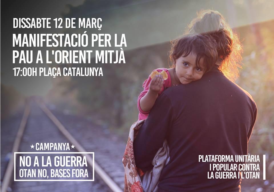 No a la guerra 12 març 2016